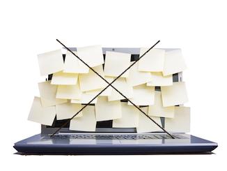 Zeitmanagement - Post auf dem PC